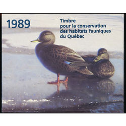 quebec wildlife habitat conservation stamp qw2 black ducks by claudio d agelo 5 1989