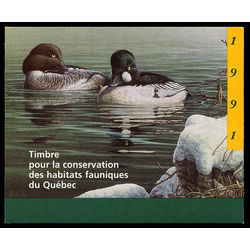 quebec wildlife habitat conservation stamp qw4 common goldeneyes by pierre leduc 6 1991