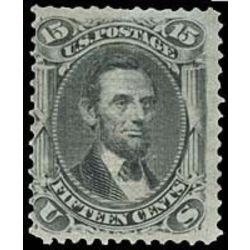 us stamp postage issues 91 lincoln 15 1867