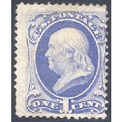 us stamp postage issues 145 franklin ultramarine 1 1870