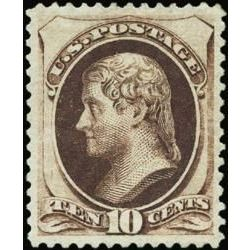 us stamp postage issues 161 jefferson 10 1873