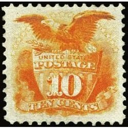 us stamp postage issues 116 shield eagle 10 1869