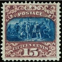 us stamp postage issues 119 columbus 15 1869