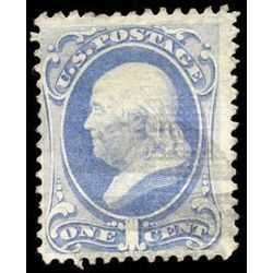 us stamp postage issues 134 franklin 1 1870