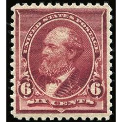 us stamp postage issues 224 garfield 6 1890