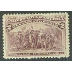 us stamp postage issues 231 landing of columbus 2 1893