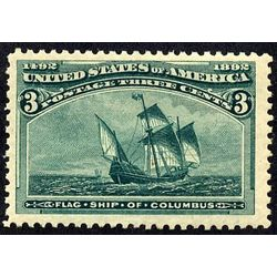us stamp postage issues 232 flagship of columbus 3 1893