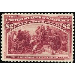 us stamp postage issues 242 columbus in chains 2 0 1893