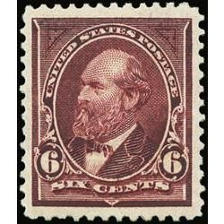 us stamp postage issues 256 garfield 6 1894