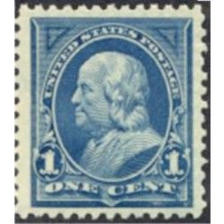 us stamp postage issues 264 franklin 1 1895