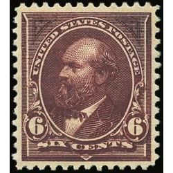 us stamp postage issues 271 garfield 6 1895