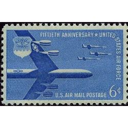 us stamp c air mail c49 b 52 stratofortress and f 104 s 6 1957