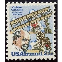 us stamp c air mail c94 2 biplane hangglider and chanute 21 1979