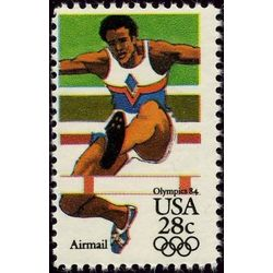 us stamp air mail c c102 hurdler 28 1983