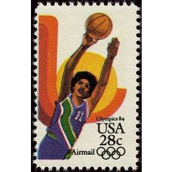 us stamp air mail c c103 basketball 28 1983