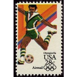 us stamp air mail c c104 soccer 28 1983