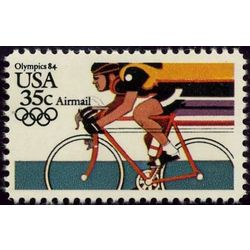 us stamp air mail c c110 cycling 35 1983