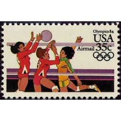 us stamp air mail c c111 volleyball 35 1983