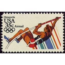 us stamp air mail c c112 pole vaulting 35 1983