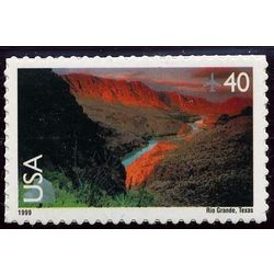 us stamp air mail c c134 rio grande 40 1999