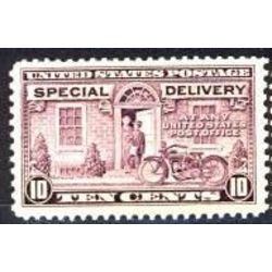 us stamp e special delivery e15 postman and motorcycle 10 1927
