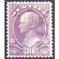 us stamp officials o o33 justice 30 1873