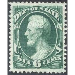 us stamp officials o o60 state 6 1873