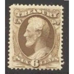 us stamp o officials o75 treasury 6 1873