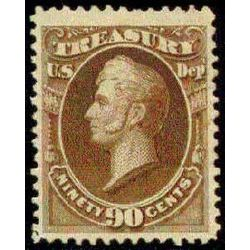 us stamp o officials o82 treasury 90 1873