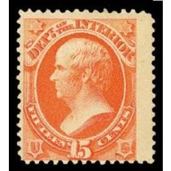 us stamp officials o o102 interior 15 1879