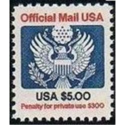us stamp o officials o133 official mail great seal 5 0 1983