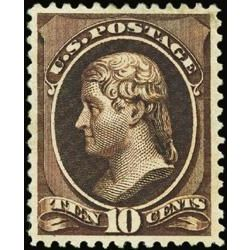 us stamp postage issues 209b jefferson 10 1881