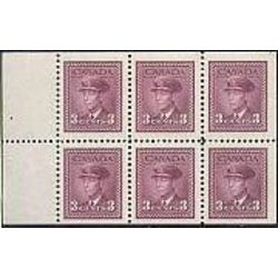 canada stamp 252c king george vi in airforce uniform 1947