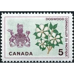 canada stamp 423i british columbia dogwood 5 1965