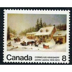 canada stamp 610i db the blacksmith s shop 8 1972