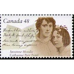 canada stamp 1997 susanna moodie 1803 1885 and catharine parr traill 1802 1899 48 2003