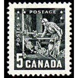 canada stamp 373 miner with drill 5 1957