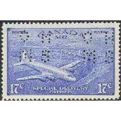 canada stamp o official oce3 d c 4 m airplane 17 1942