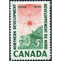 canada stamp 391 surveying crew 5 1961