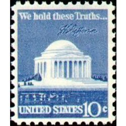 us stamp postage issues 1510 jefferson memorial 10 1973
