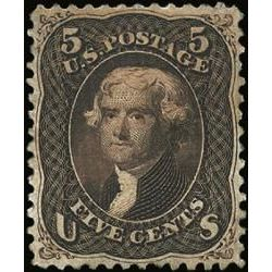 us stamp postage issues 76a jefferson 5 1861