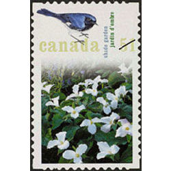 canada stamp 2145a shade garden black throated blue warbler 51 2006