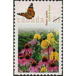 canada stamp 2145b flower garden american painted lady butterfly 51 2006