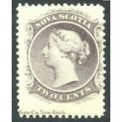 nova scotia stamp 9a queen victoria 2 1860