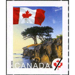 canada stamp 2190 flag over cliff near chemainus bc p 2006
