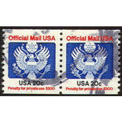 us stamp o officials o135pa great seal 40 1983
