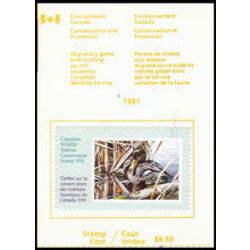 canadian wildlife habitat conservation stamp fwh7a black duck 8 50 1991