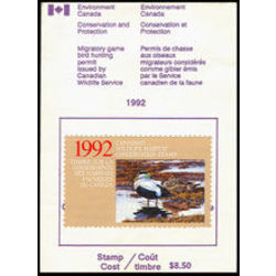 canadian wildlife habitat conservation stamp fwh8a eider duck 8 50 1992