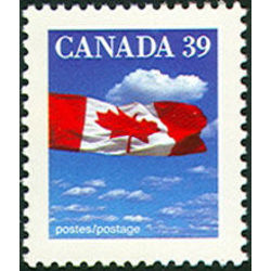 canada stamp 1166i flag over clouds 39 1990