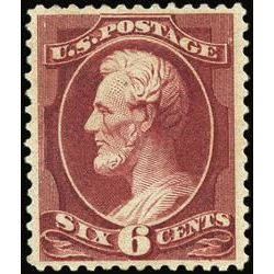us stamp postage issues 208a lincoln 6 1881